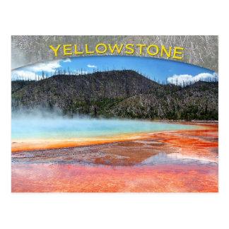 Großartiger prismatischer Frühling, Yellowstone Postkarte