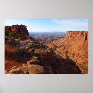 Großartiger Standpunkt an Canyonlands Nationalpark Poster