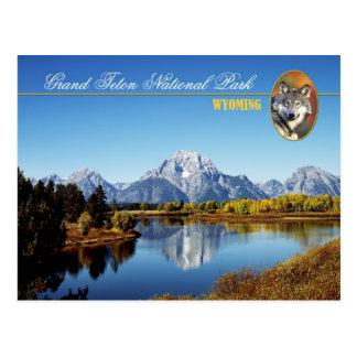Großartiger Teton Nationalpark in Wyoming Postkarte