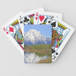 Großartiger Teton Nationalpark Mt. Moran Bicycle Spielkarten