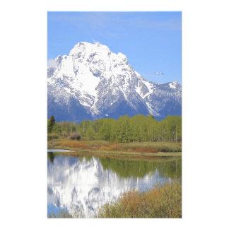 Großartiger Teton Nationalpark Mt. Moran Briefpapier