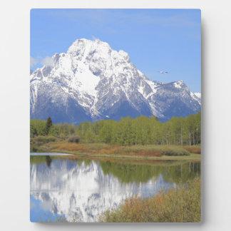 Großartiger Teton Nationalpark Mt. Moran Fotoplatte