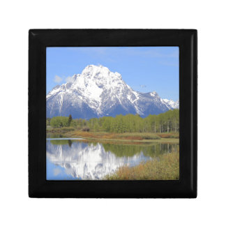 Großartiger Teton Nationalpark Mt. Moran Geschenkbox