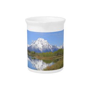 Großartiger Teton Nationalpark Mt. Moran Krug