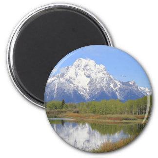Großartiger Teton Nationalpark Mt. Moran Runder Magnet 5,1 Cm