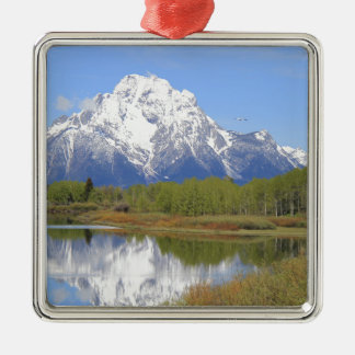 Großartiger Teton Nationalpark Mt. Moran Silbernes Ornament