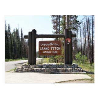 Großartiger Teton Nationalpark, Nationalpark US, Postkarte
