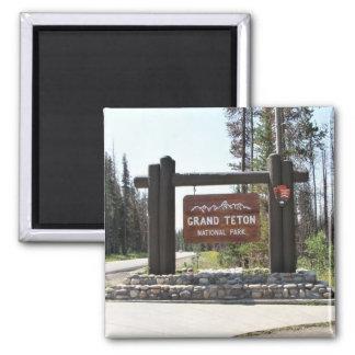 Großartiger Teton Nationalpark, Nationalpark US, Quadratischer Magnet