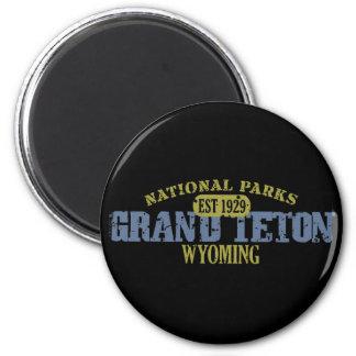 Großartiger Teton Nationalpark Runder Magnet 5,1 Cm