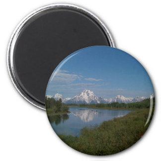 Großartiger Teton Nationalpark Runder Magnet 5,7 Cm