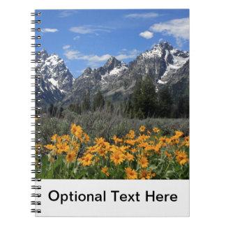 Großartiger Teton Nationalpark Spiral Notizblock
