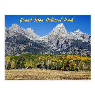Großartiger Teton Nationalpark, Wyoming Postkarte