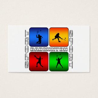 Großartiges Badminton Visitenkarte