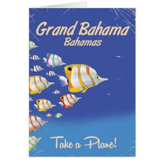 Großartiges Bahama Vintages tropisches Karte