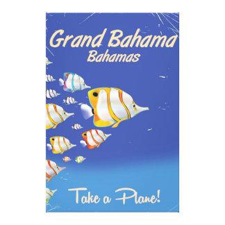 Großartiges Bahama Vintages tropisches Leinwanddruck