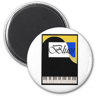Großartiges Blues-Klavier Runder Magnet 5,7 Cm