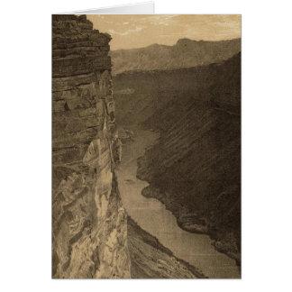 Großartiges Canon nahe Paria Nebenfluss Karte