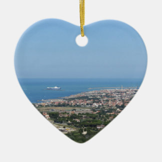 Großartiges Luftpanorama von Livorno-Stadt Keramik Ornament