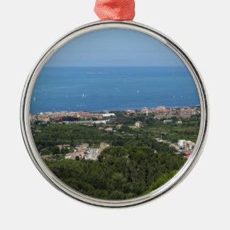 Großartiges Luftpanorama von Livorno-Stadt Silbernes Ornament