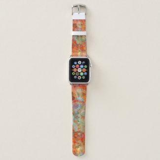 Großartiges orange abstraktes apple watch armband