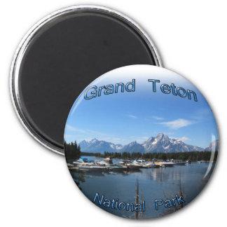 Großartiges Teton, Nationalpark US, Montana Runder Magnet 5,1 Cm