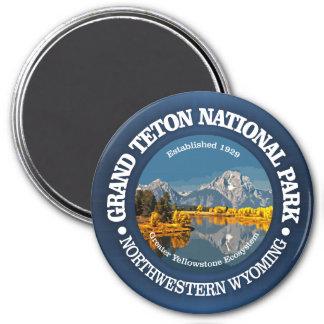 Großartiges Teton NP Runder Magnet 7,6 Cm