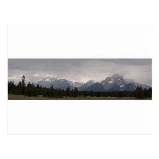 Großartiges Teton Panorama 1 Postkarte