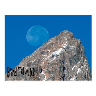 Großartiges Teton und Mond Postkarte