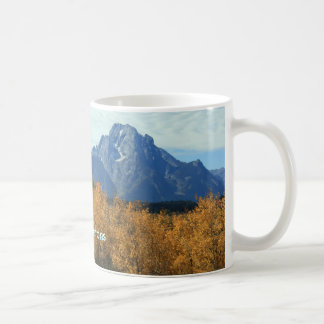 Großartiges Tetons mit Espen Kaffeetasse