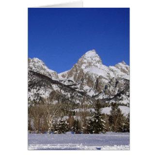Großartiges Tetons, WY Winter Karte