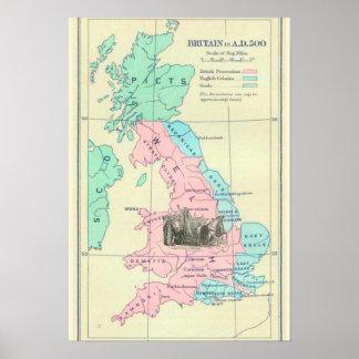 Großbritannien-ANZEIGE 500 mit Boudica Poster