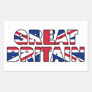 Großbritannien-Aufkleber Rechteckiger Aufkleber