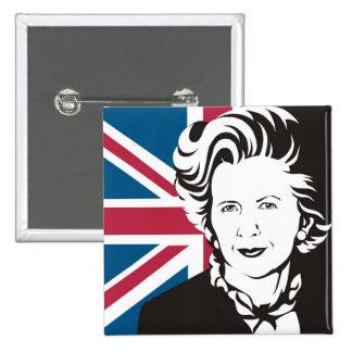Großbritannien beklagt Margaret Thatcher, Englands Anstecknadelbuttons