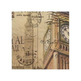 Großbritannien England London clocktower Big Ben Holzdruck