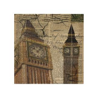 Großbritannien England London clocktower Big Ben Holzleinwand