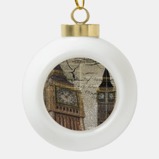 Großbritannien England London clocktower Big Ben Keramik Kugel-Ornament