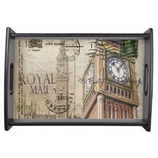 Großbritannien England London clocktower Big Ben Serviertablett