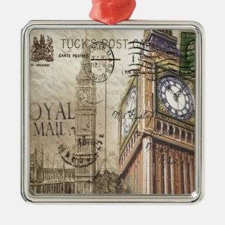 Großbritannien England London clocktower Big Ben Silbernes Ornament