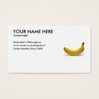 Großbritannien fertigen Ihre Karten-Banane Visitenkarte