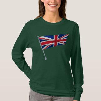 Großbritannien-Flagge auf einem Pfosten T-Shirt
