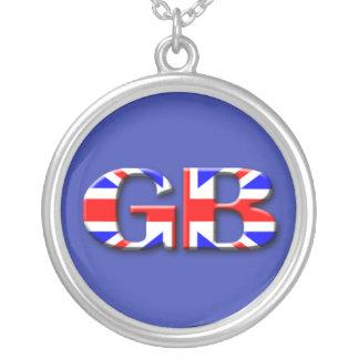 Großbritannien-Flagge Versilberte Kette