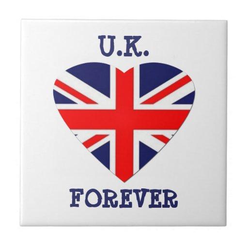 Großbritannien - für immer! - Gewerkschafts-Jack-H Keramikkachel