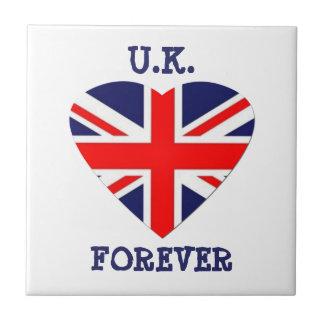 Großbritannien - für immer! - Gewerkschafts-Jack-H Kleine Quadratische Fliese