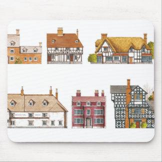 Großbritannien. Landschaftshäuser Mousepad