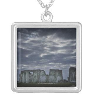 Großbritannien, Stonehenge, landschaftliche Versilberte Kette