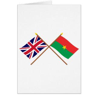 Großbritannien und Burkina Faso gekreuzte Flaggen Karte
