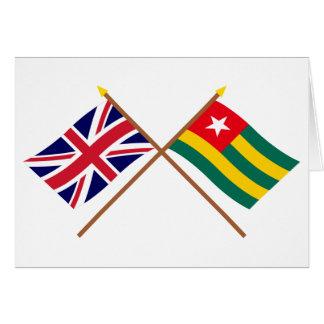Großbritannien und Togo gekreuzte Flaggen Karte