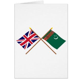 Großbritannien und Turkmenistan gekreuzte Flaggen Karte