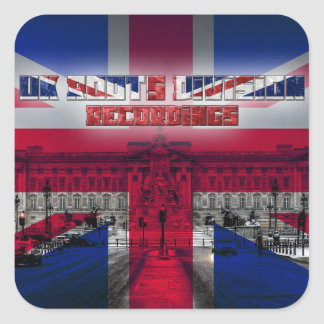 Großbritannien wurzelt Abteilungs-Aufnahmen Quadrataufkleber