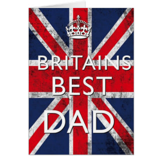 Großbritanniens beste der Vatertags-Karte Vati- Karte